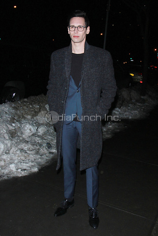 NEW YORK, NY - JANUARY 11: Cory Michael Smith arriving at the IFC Films premiere of Freak Show at the Landmark Sunshine Cinema in New York City on January 10, 2018. Credit: RW/MediaPunch