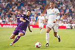 Real Madrid's Cristiano Ronaldo and Fiorentina's Nenad Tomovic during XXXVIII Santiago Bernabeu Trophy at Santiago Bernabeu Stadium in Madrid, Spain August 23, 2017. (ALTERPHOTOS/Borja B.Hojas)