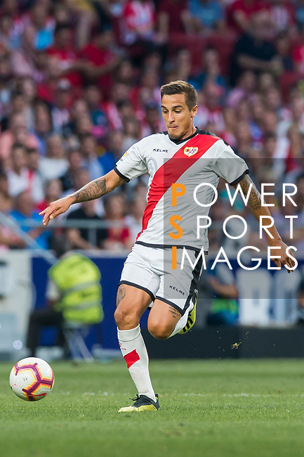Oscar Guido Trejo of Rayo Vallecano in action during the La Liga 2018-19 match between Atletico de Madrid and Rayo Vallecano at Wanda Metropolitano on August 25 2018 in Madrid, Spain. Photo by Diego Souto / Power Sport Images