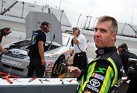 May 1, 2009; Richmond, VA, USA; NASCAR Sprint Cup Series driver Jeremy Mayfield during practice for the Russ Friedman 400 at the Richmond International Raceway. Mandatory Credit: Mark J. Rebilas-
