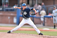 Asheville Tourists pitcher Hayden Jones (11) delivers a pitch during a game against the West Virginia Power at McCormick Field on June 25, 2016 in Asheville, North Carolina. The Tourists defeated the Power 8-4. (Tony Farlow/Four Seam Images)
