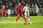 Jean Jacques Kilama of Hong Kong (R) in action during the International Friendly match between Hong Kong and Jordan at Mongkok Stadium on June 7, 2017 in Hong Kong, China. Photo by Cris Wong / Power Sport Images