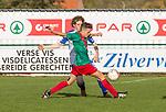 2017-11-05 / Voetbal / seizoen 2017 -2018 / KFCM Hallaar - K.Puurs EXC RSK / Jan-Pieter Vercammen (FCM Hallaar) vooraan met achter hem Jonas De Proft  ,Foto: Mpics.be