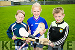 l-r  Brian Reidy, Anna Chute and Conor McGivney enjoying the Parnells summer camp in Caherslee GAA grounds
