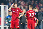 03.11.2018, Allianz Arena, Muenchen, GER, 1.FBL,  FC Bayern Muenchen vs. SC Freiburg, DFL regulations prohibit any use of photographs as image sequences and/or quasi-video, im Bild enttaeuscht Niklas Suele (FCB #4) Joshua Kimmich (FCB #32) <br /> <br />  Foto &copy; nordphoto / Straubmeier