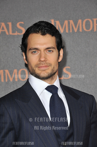 "Henry Cavill at the world premiere of his new movie ""Immortals"" at the Nokia Theatre L.A. Live in downtown Los Angeles..November 7, 2011  Los Angeles, CA.Picture: Paul Smith / Featureflash"
