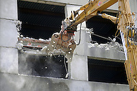 - Milan, demolition of the hotel structure in Ponte Lambro  neighborhood  built for World soccer Championship in 1990 and never completed<br /> <br /> - Milano, demolizione della struttura alberghiera nel quartiere di Ponte Lambro costruita in occasione dei  Campionati Mondiali di calcio del 1990 e mai completata