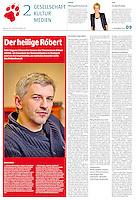 die tageszeitung taz (German daily) on Hungarian theatre director Robert Alföldi, 2013.09.03.<br /> Photo: Daniel Nemeth