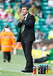 Tony Mowbray looks to the heavens and prays for a last minute winner at Celtic Park. As if by magic his prayers are answered...