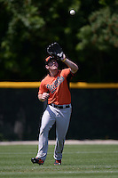 Baltimore Orioles Conor Bierfeldt (19) during a minor league spring training game against the Boston Red Sox on March 18, 2015 at the Buck O'Neil Complex in Sarasota, Florida.  (Mike Janes/Four Seam Images)