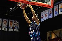 GRONINGEN - Basketbal, Donar - Weert, Dutch Baketball League, seizoen 2018-2019, 07-10-2018, dunk Donar speler Jason Dourisseau