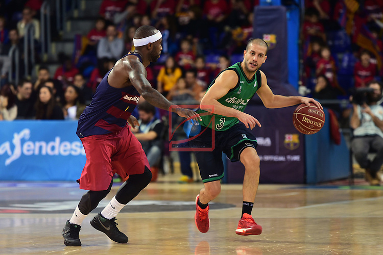League ACB-ENDESA 2016/2017 - Game: 13.<br /> FC Barcelona Lassa vs Divina seguros Joventut: 79-77.<br /> Tyressen Rice vs Albert Sabat.