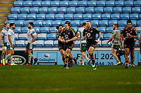 5th January 2020; Ricoh Arena, Coventry, West Midlands, England; English Premiership Rugby, Wasps versus Northampton Saints; Jimmy Gopperth of Wasps celebrates scoring a try in the 58th minute for 17-28 - Editorial Use