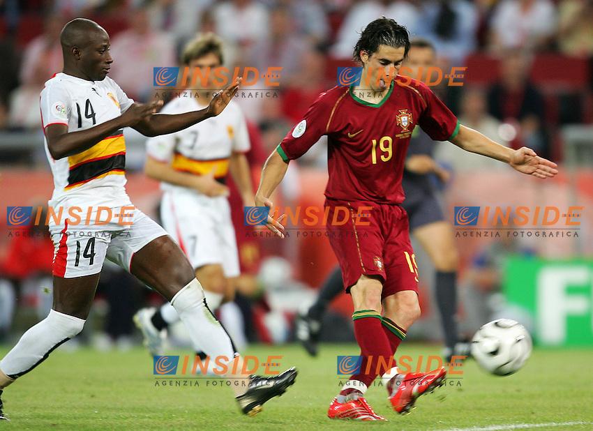 Koln 11/6/2006 World Cup 2006.Angola Portugal - Angola Portogallo 0-1.Photo Andrea Staccioli Insidefoto.Tiago Portogallo Mendonca Angola