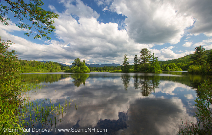 Coffin Pond in Sugar Hill, New Hampshire USA during the spring months