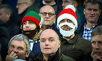 Leeds United fans cheer their team on in the second half<br /> <br /> Photographer Alex Dodd/CameraSport<br /> <br /> The EFL Sky Bet Championship - Aston Villa v Leeds United - Sunday 23rd December 2018 - Villa Park - Birmingham<br /> <br /> World Copyright &copy; 2018 CameraSport. All rights reserved. 43 Linden Ave. Countesthorpe. Leicester. England. LE8 5PG - Tel: +44 (0) 116 277 4147 - admin@camerasport.com - www.camerasport.com