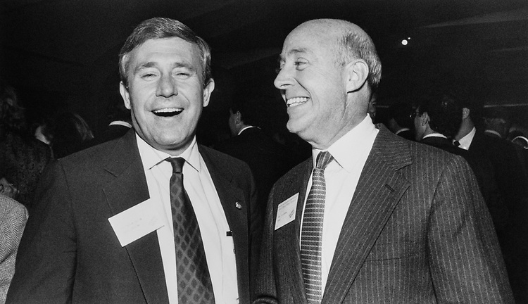 Rep. Robin Tallon, D-S.C., and Rep. Jim Chapman, D-Tex., at New York state festival on Oct. 16, 1989. (Photo by Laura Patterson/CQ Roll Call)