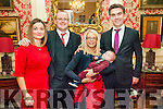 Baby Jack Lyons with his parents Padraig & Niamh Lyons, Listowel & Dublin and god parents Cillian Bergin & Leisha Vale who was christened in St. Mary's Church, Listowel by Canon Declan O'Connor on Saturday last and afterwards at the Listowel Arms Hotel.