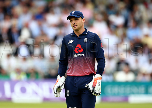 May 29th 2017, Lords, London, England, One Day International Cricket, England versus South Africa; Jos Buttler (wk) of England prepares for the next delivery