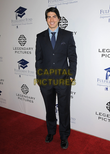 BRANDON ROUTH .at The Fulfillment Fund Annual Stars 2008 Benefit Gala held at The Beverly Hilton Hotel in Hollywood, California, USA, October 13th 2008.                                                                     .full length tie blue suit .CAP/DVS.©Debbie VanStory/Capital Pictures