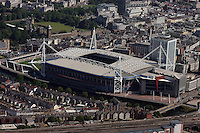 Aerial picture of the Millennium Stadium, Cardiff, south Wales