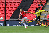 Carl Piergianni (Salford City) during the Vanarama National League Playoff Final between AFC Fylde & Salford City at Wembley Stadium, London, England on 11 May 2019. Photo by James  Gil.