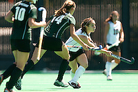 STANFORD, CA - SEPTEMBER 6: Xanthe Travlos plays against Michigan State on September 6, 2010 in Stanford, California.