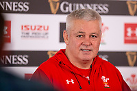 Hensol, Wales, 14th March 2019. Wales head coach Warren Gatland faces the press after announcing his team to face Ireland in the Guinness Six Nations rugby championships. Photo by Mark Hawkins.