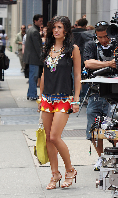 WWW.ACEPIXS.COM . . . . .  ....July 9 2009, New York City....Actress Jessica Szohr on the set of the TV show Gossip Girl in Soho on July 9 2009 in New York City....Please byline: AJ Sokalner - ACEPIXS.COM..... *** ***..Ace Pictures, Inc:  ..tel: (212) 243 8787..e-mail: info@acepixs.com..web: http://www.acepixs.com