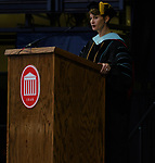 Brandi Hephner Labanc, vice chancellor for student affairs, speaks at the Celebration of Achievement 2017 ceremony. Photo by Marlee Crawford/Ole Miss Communications
