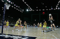 18.07.2007 Silver Ferns during the Silver Ferns v Australia Fisher and Paykel Netball Test Match at Vector Arena, Auckland. Mandatory Photo Credit ©Michael Bradley.