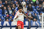 16.03.2019, VELTINS-Arena, Gelsenkirchen, GER, DFL, 1. BL, FC Schalke 04 vs RB Leipzig, DFL regulations prohibit any use of photographs as image sequences and/or quasi-video<br /> <br /> im Bild Kopfball / Kopfballduell Salif Sane (#26, FC Schalke 04) Yussuf Poulsen (#9, RB Leipzig) <br /> <br /> Foto © nph/Mauelshagen
