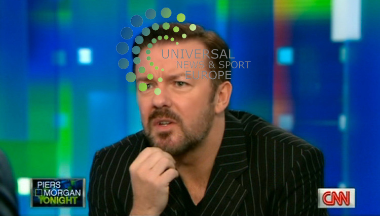 Ricky Gervais remained unrepentant as he got a grilling from Piers Morgan during an interview on CNN and insisted that he didn't do anything wrong at the Golden Globes and had to 'roast' his celebrity crowd..Picture: CNN/Universal News And Sport (Europe) 21 January 2011.(Universal News does not claim any Copyright or License in the attached material. Any downloading fee charged by Universal News and Sport is for Universal News services only. We are advised that screen Image's should not be used more than 48 hours after the time of original transmission, without the consent of the copyright holder).