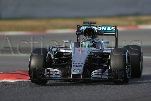 24.02.2016. Circuit de Catalunya, Barcelona, Spain. Day 3 of the Spring F1 testing and new car unvieling for 2016-17 season.  Mercedes AMG Petronas F1 W07 Hybrid – Nico Rosberg