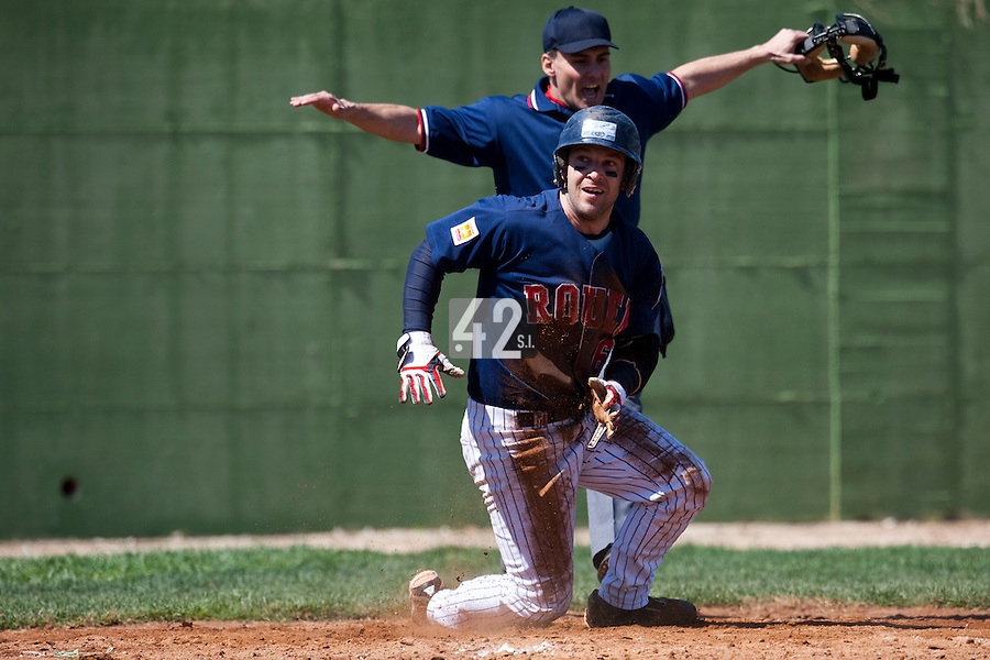 BASEBALL - EUROPEAN CUP 2009 - ANZIO (ITA) - 02/04/2009 - .PHOTO : CHRISTOPHE ELISE / 42 SPORTS IMAGES.PORT OF ANTWERP GREYS V ROUEN BASEBALL '76 - DANY SCALABRINI (ROUEN)