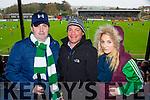 David, Brian and Caroline Regan cheering the Legion at the AIB Munster club SFC clash against Nemo Rangers in Pairc Uí Rinn on Sunday