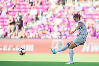 Orlando, FL - Sunday May 14, 2017: Abby Erceg during a regular season National Women's Soccer League (NWSL) match between the Orlando Pride and the North Carolina Courage at Orlando City Stadium.