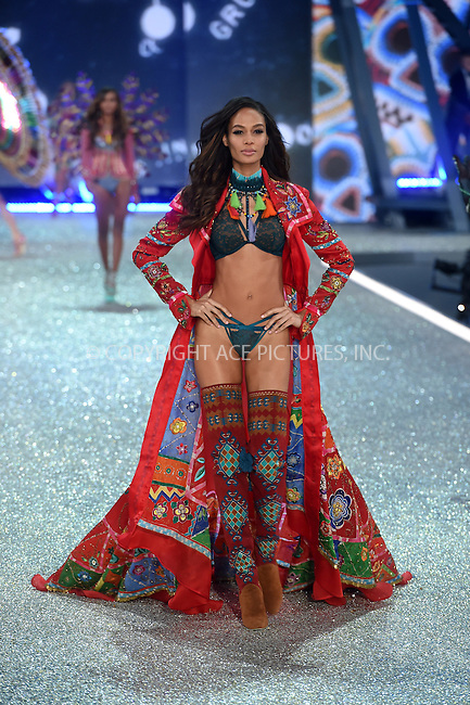 www.acepixs.com<br /> <br /> November 30 2016, New York City<br /> <br /> Joan Smalls walks the runway during the Victoria's Secret Fashion Show on November 30, 2016 in Paris, France.<br /> <br /> By Line: Alain Benainous/ACE Pictures<br /> <br /> <br /> ACE Pictures Inc<br /> Tel: 6467670430<br /> Email: info@acepixs.com<br /> www.acepixs.com