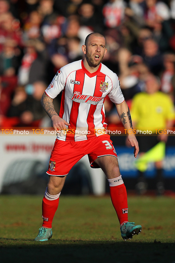Keith Keane in action for Stevenage - Stevenage vs Newport County - Sky Bet League Two Football at the Lamex Stadium, Broadhall Way, Stevenage - 07/03/15 - MANDATORY CREDIT: Gavin Ellis/TGSPHOTO - Self billing applies where appropriate - contact@tgsphoto.co.uk - NO UNPAID USE
