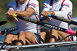 Rowing, United States Men's lightweight double, Jonathan Winter, bow, Brian De Regt, stroke, heat, Monday 1 November, 2010 FISA World Rowing Championships, Lake Karapiro, Hamilton, New Zealand,