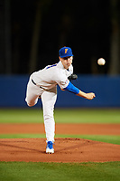 Florida Gators starting pitcher Brady Singer (51) delivers a pitch during a game against the Siena Saints on February 16, 2018 at Alfred A. McKethan Stadium in Gainesville, Florida.  Florida defeated Siena 7-1 in both teams opening game of the season.  (Mike Janes/Four Seam Images)