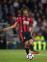 Nathan Ake of AFC Bournemouth during the Premier League match between Bournemouth and Manchester United at the Goldsands Stadium, Bournemouth, England on 18 April 2018. Photo by Andy Rowland.