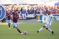 SAN JOSÉ CA - JULY 27: Keegan Rosenberry #7 and Judson #93 during a Major League Soccer (MLS) match between the San Jose Earthquakes and the Colorado Rapids on July 27, 2019 at Avaya Stadium in San José, California.
