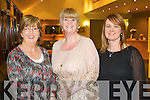 Pictured at the Bons Foundation Dinner on Thursday last in Ballyroe Heights Hotel were l-r:  Noreen Breen (Tralee) Cara Flahive (Ballyheigue) and Catherine Walsh (Ballyheigue).