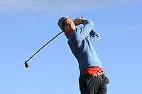 Robert Galligan (Elm Park) on the 14th tee during Round 3 of the Ulster Boys Championship at Royal Portrush Golf Club, Valley Links, Portrush, Co. Antrim on Thursday 1st Nov 2018.<br /> Picture:  Thos Caffrey / www.golffile.ie<br /> <br /> All photo usage must carry mandatory copyright credit (&copy; Golffile | Thos Caffrey)