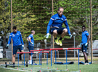 April 21st 2020; Karlsruher, Germany; Manuel Stiefler (KSC)  Team training during the covid-19 pandemic
