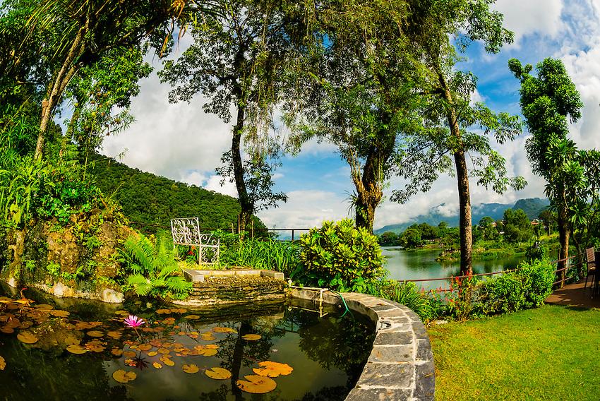 Fish Tail Lodge, along Phewa Lake, Nepal.