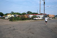 1990 June ..Conservation.MidTown Industrial..LOOKING EAST FROM 23RD & GAZEL STREET...NEG#.NRHA#..