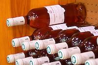 Rose wine. Domaine La Tour Boisee. In Laure-Minervois. Minervois. Languedoc. Bottle cellar. France. Europe. Bottle.