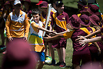 Batonbearer Cooper Wilesmith carrying the Baton as the Queen's Baton Relay visited Cairns. In the host state of Queensland the Queen's Baton will visit 83 communities from Saturday 3 March to Wednesday 4 April 2018. As the Queen's Baton Relay travels the length and breadth of Australia, it will not just pass through, but spend quality time in each community it visits, calling into hundreds of local schools and community celebrations in every state and territory. The Gold Coast 2018 Commonwealth Games (GC2018) Queen's Baton Relay is the longest and most accessible in history, travelling through the Commonwealth for 388 days and 230,000 kilometres. After spending 100 days being carried by approximately 3,800 batonbearers in Australia, the Queen's Baton journey will finish at the GC2018 Opening Ceremony on the Gold Coast on 4 April 2018.